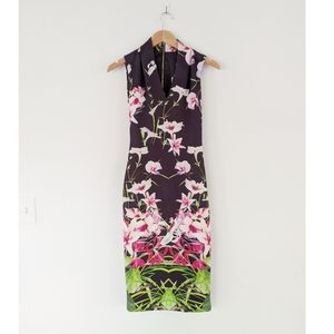 NWT Ted Baker Mirrored Tropics Midi Dress
